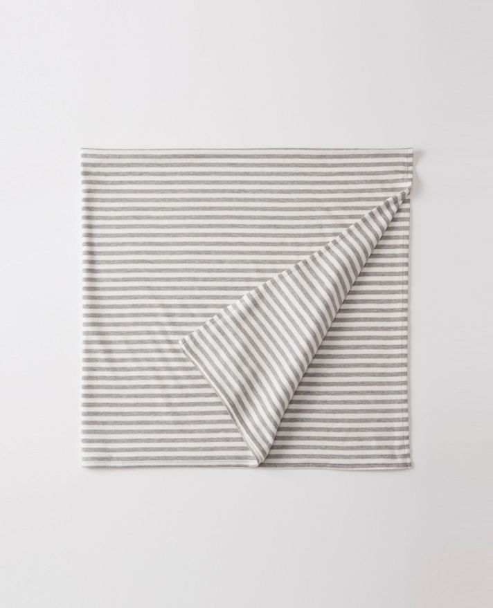 Hanna Anderson Gray Stripped Swaddle