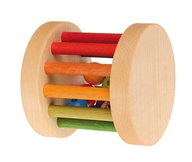 Grimm's Toys - Mini Wooden Rainbow Rolling Wheel