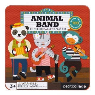 Petit Collage Toys- Animal Band On-the-Go Magnetic Play Set