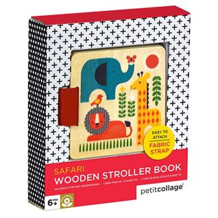 Petit Collage Toys - Wood Stroller Book, Safari